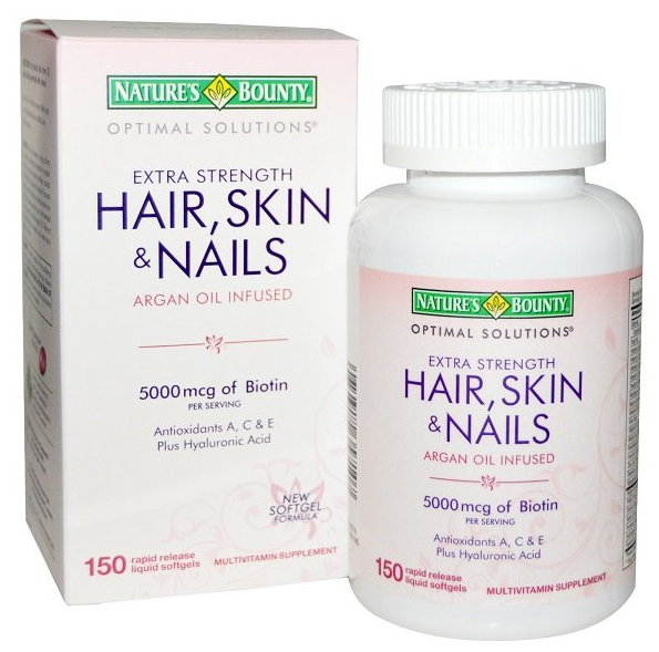 Viên uống Nature's Bounty Optimal Solutions Hair, Skin & Nails