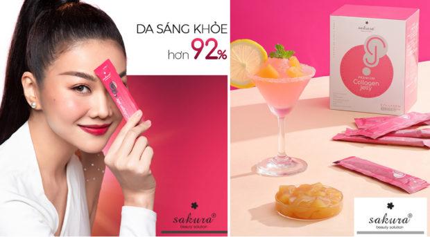 Bí quyết tươi trẻ khỏe đẹp ngày Tết với thạch dưỡng nhan Sakura Jelly